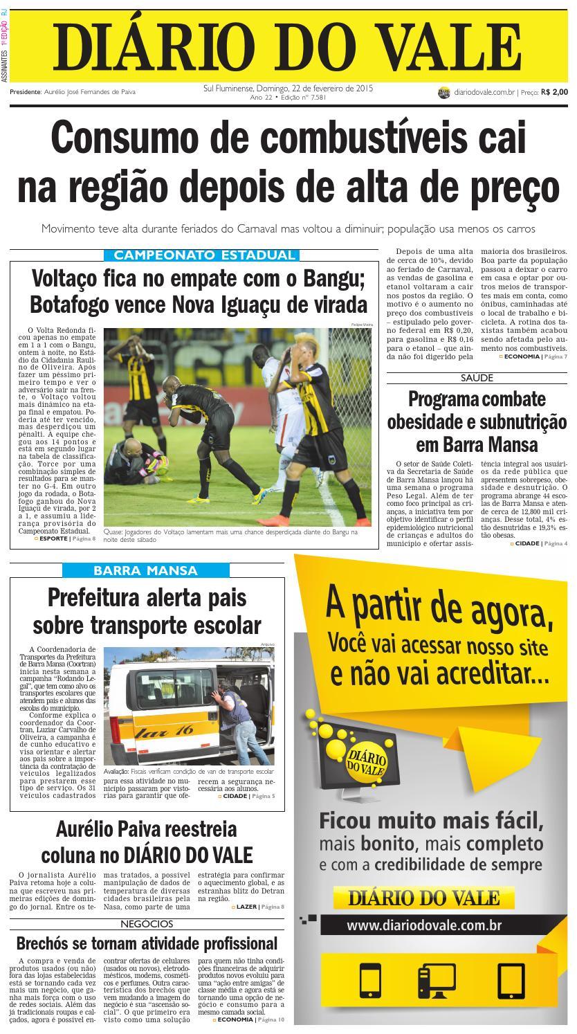 d3db6947a4 7581 diario domingo 22 02 2015 by Diário do Vale - issuu