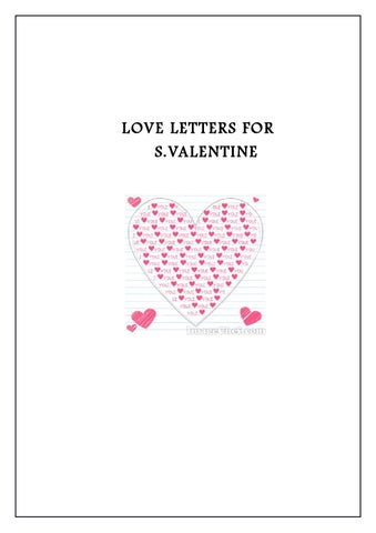 love let ters for svalentine - Valentines Letters