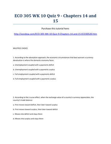 o eco 11 10 14 by jornal o eco issuueco 305 week 10 quiz 9 chapters 14 and 15 strayer university new