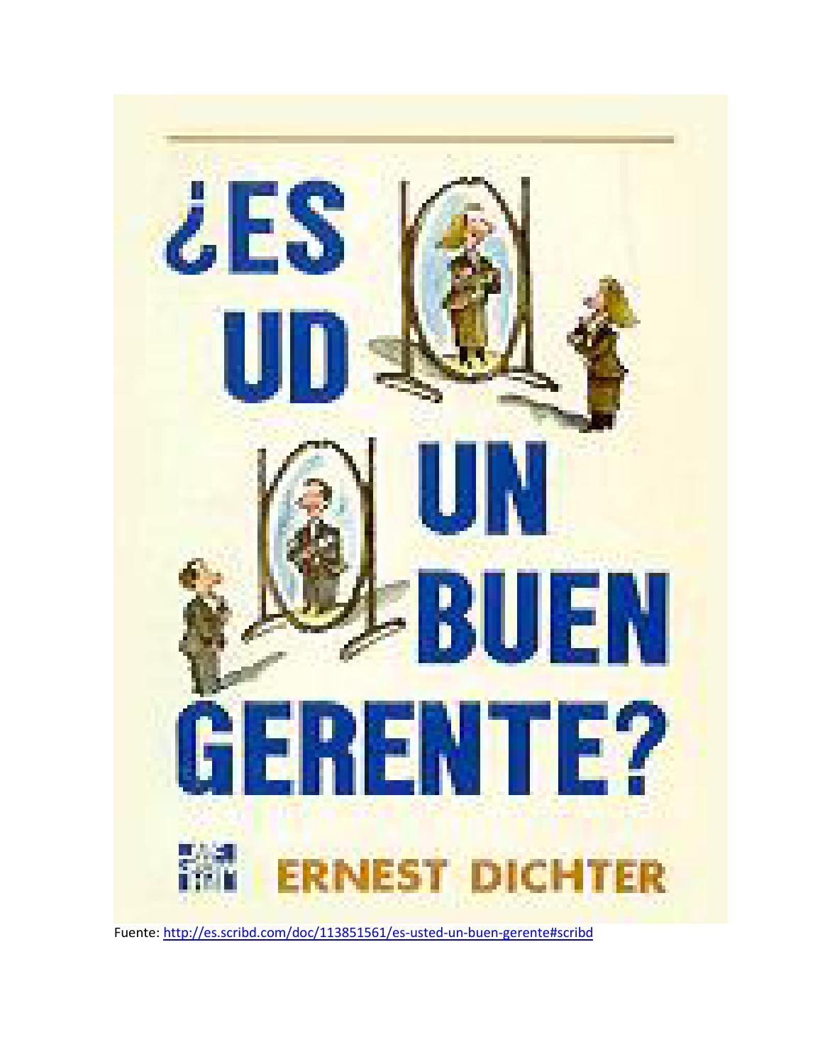 Es usted un buen Gerente? Autor: ERNEST DICHTER by Guillermo ...