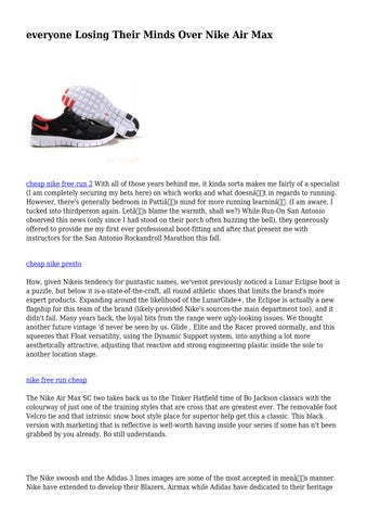 wide varieties quality products delicate colors everyone Losing Their Minds Over Nike Air Max by didacticshoe6491 ...