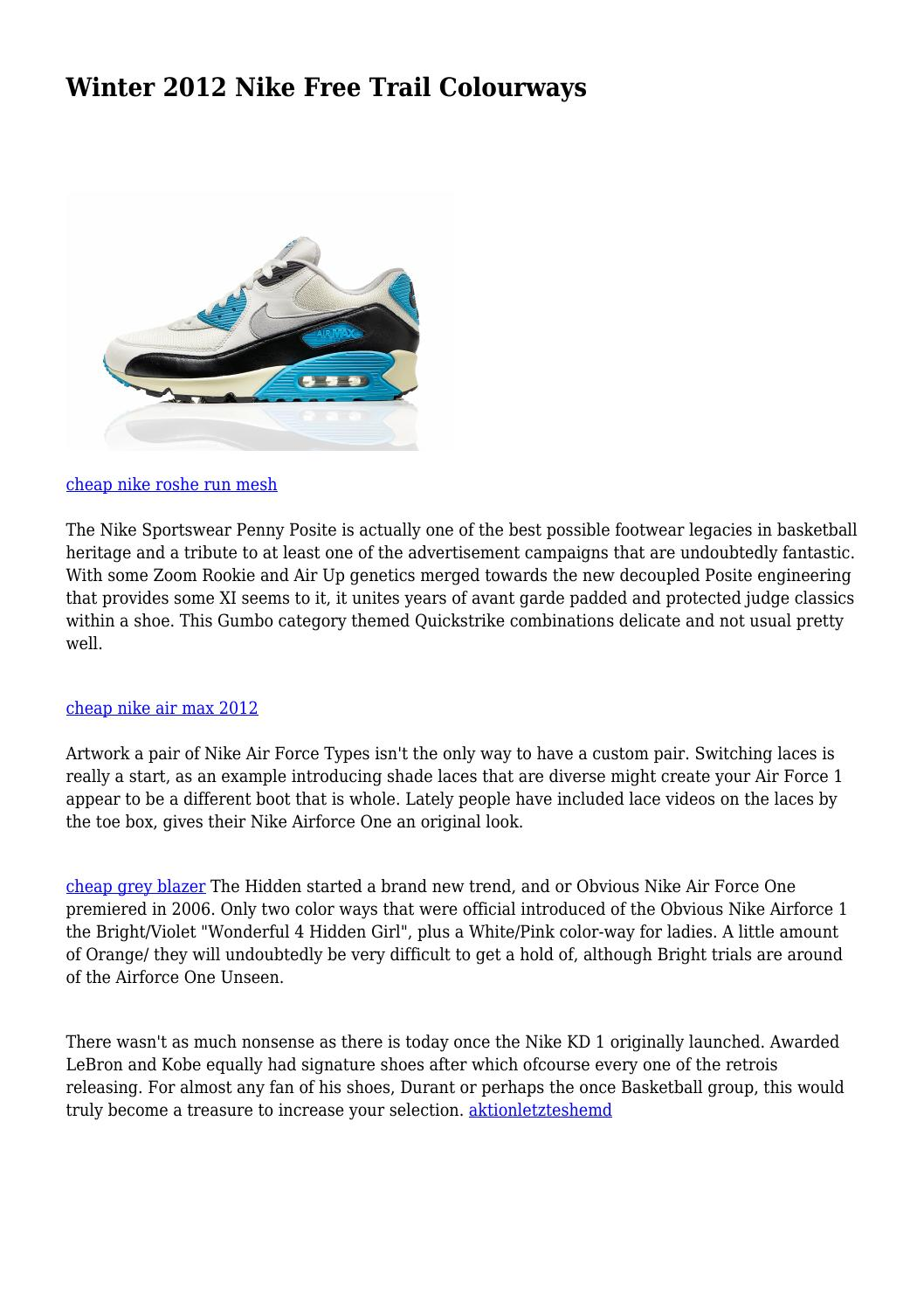 Winter 2012 Nike Free Trail Colourways by makeshiftspray572