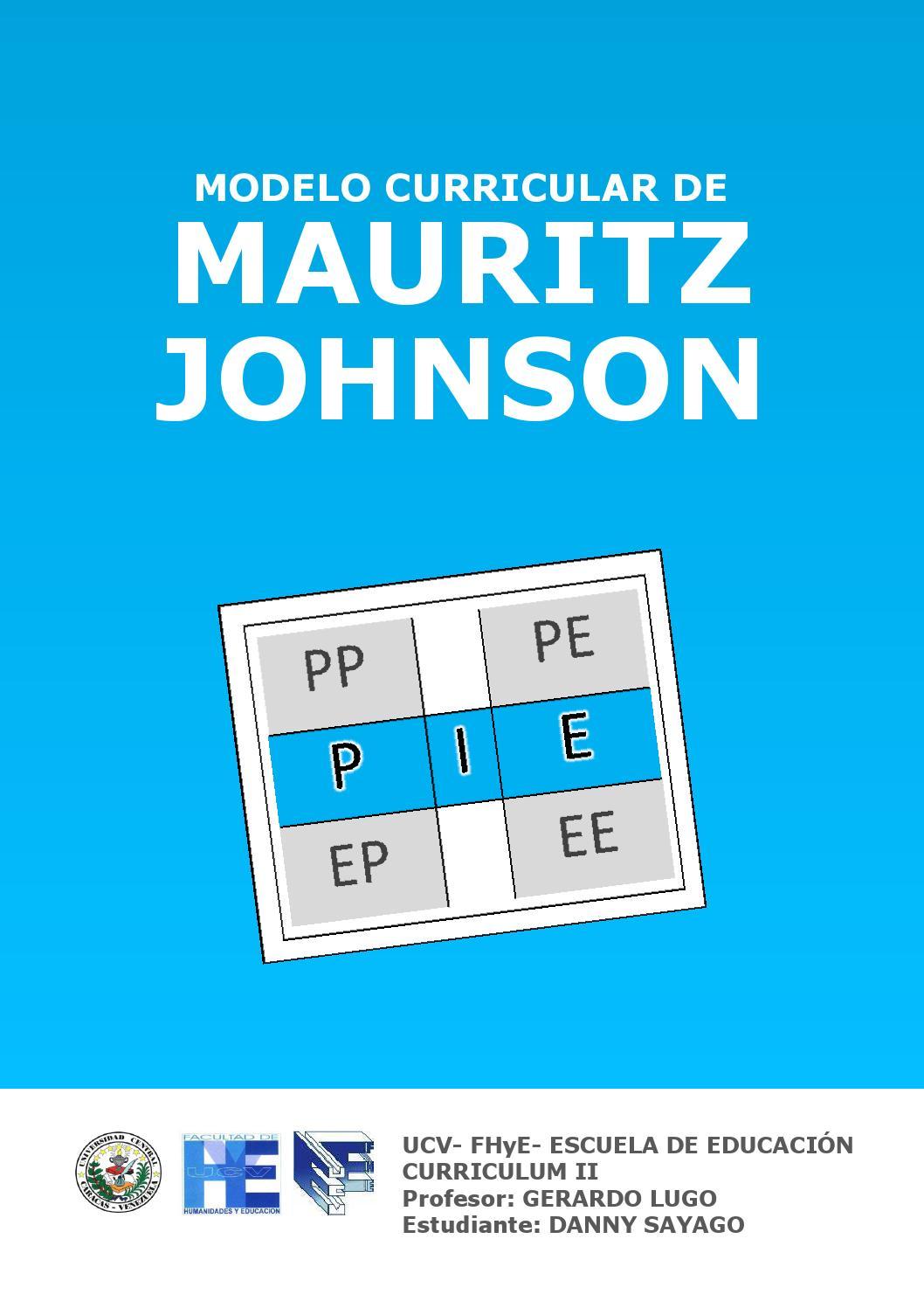 Modelo curricular de Mauritz Johnson by Danny Sayago - issuu
