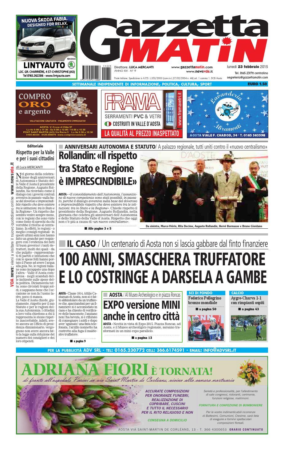 Gazzetta Matin del 23 febbraio 2015 by NewsVDA - issuu 23fc1bd09f12