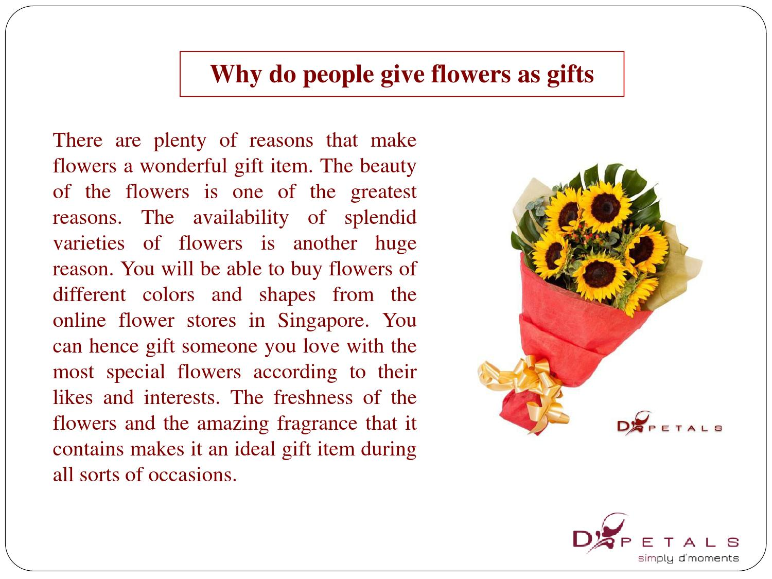 Why give flowers 17