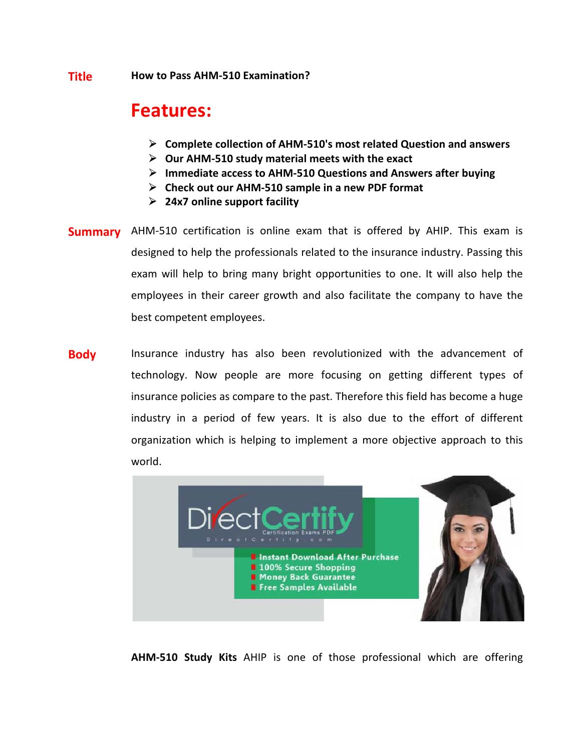 Ahm 510 exam questions pass in first attempt by brettlee issuu 1betcityfo Images