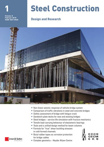 Hervorragend Steelconstruction 01/2015 Free Sample Copy By Ernst U0026 Sohn   Issuu