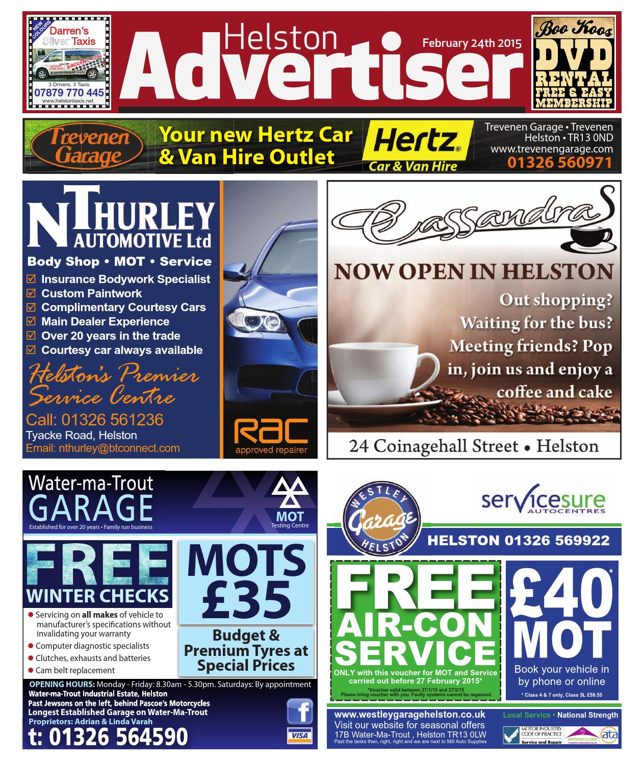 Helston advertiser february 24th 2015 by helston advertiser issuu fandeluxe Images