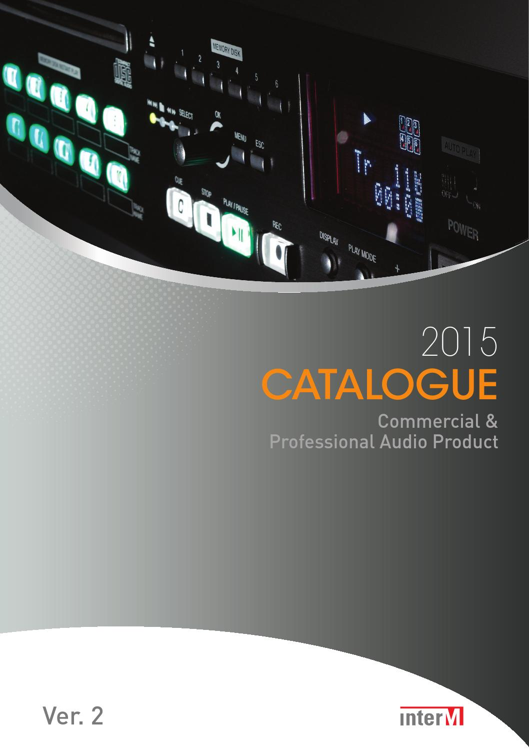 2015 Inter M Product Catalogue 1 By Piotr Grycner Issuu The Radio Builder Audio Amplifier6 Simple Circuits