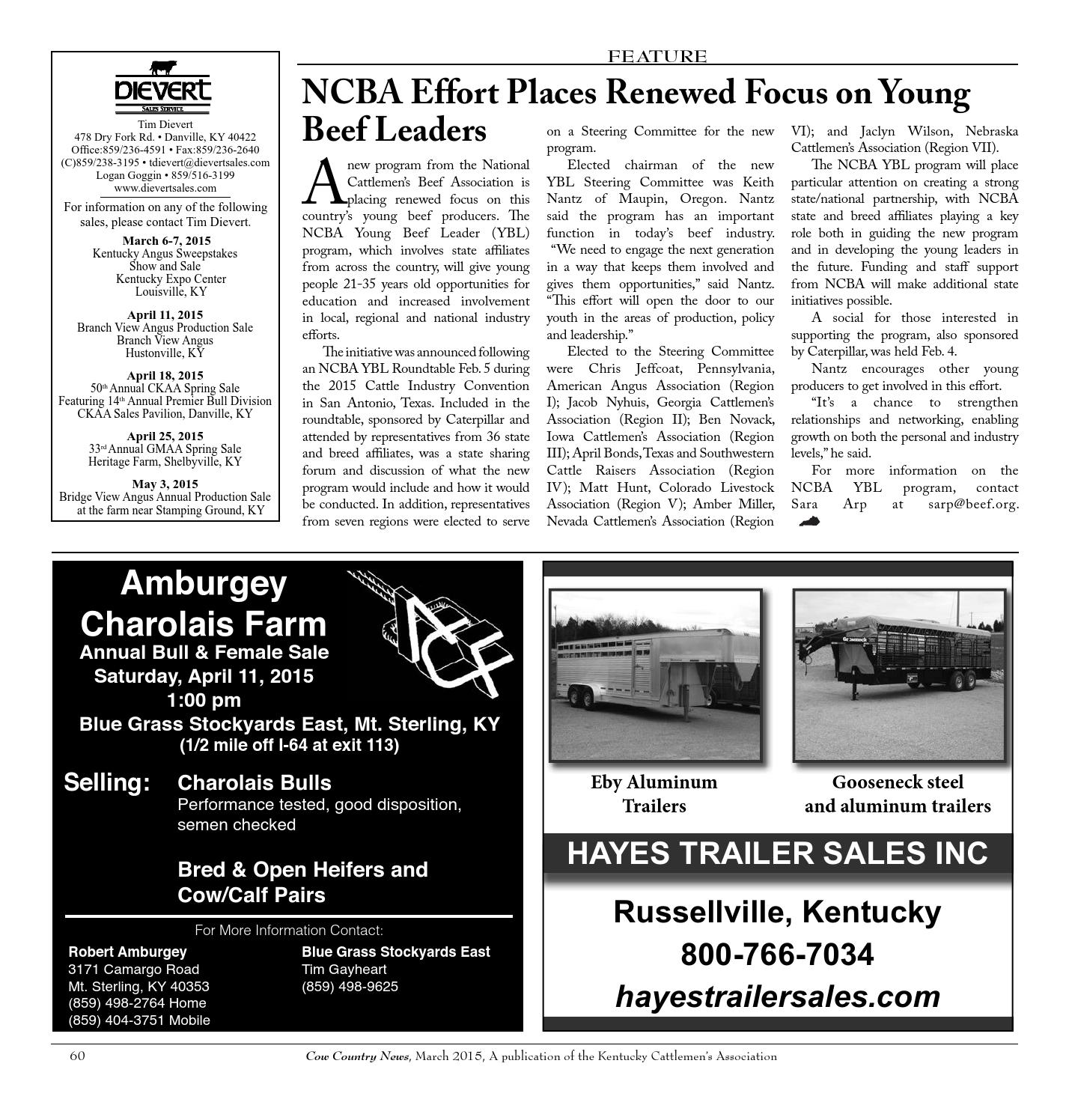 Cow Country News - March 2015 by The Kentucky Cattlemen's