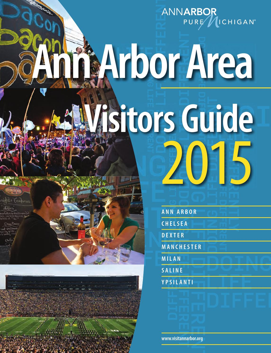 2015 Ann Arbor Area Visitors Guide by Cory Hamlin - issuu