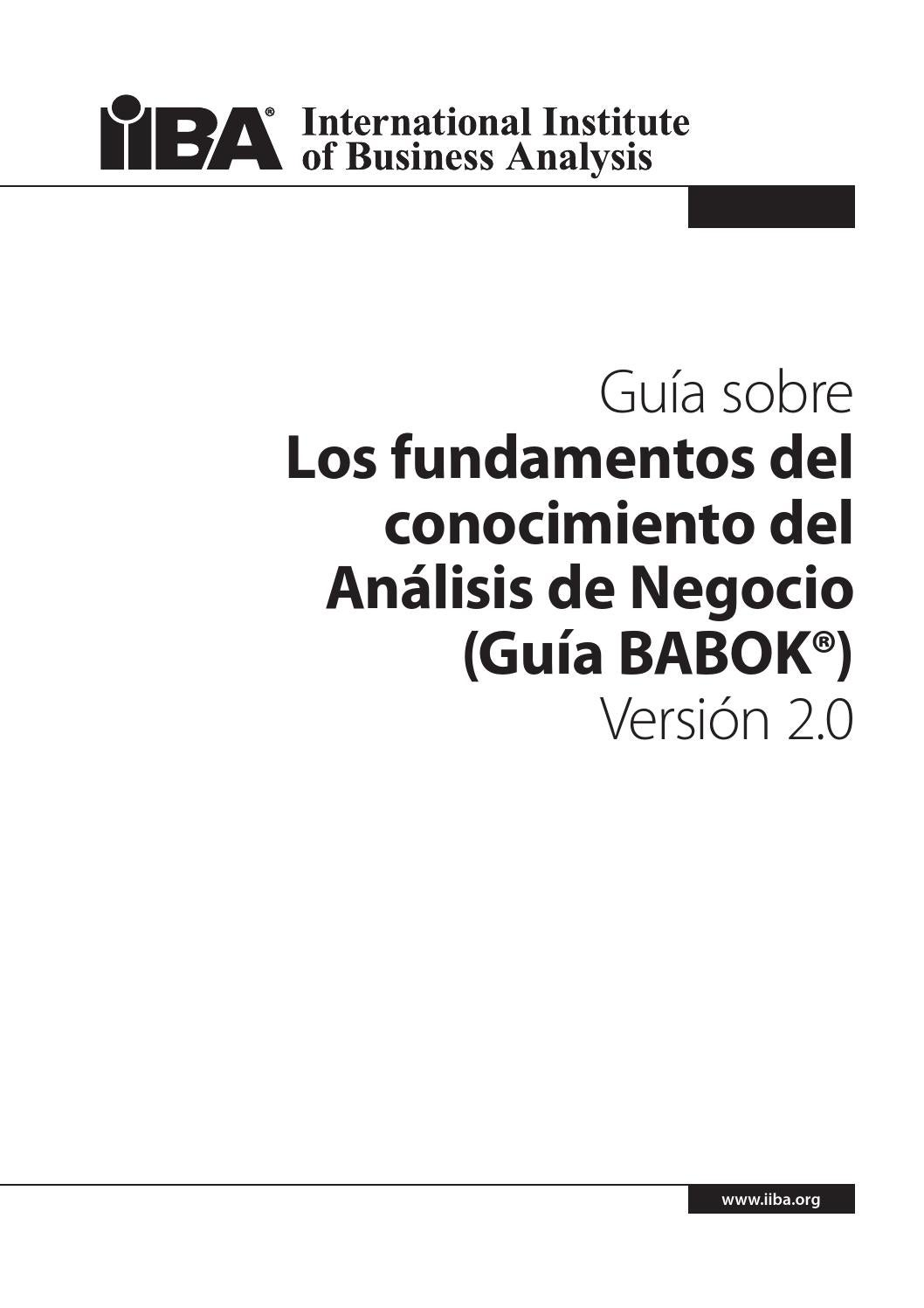 IIBA documento de prueba by INNOVAXIONES - issuu