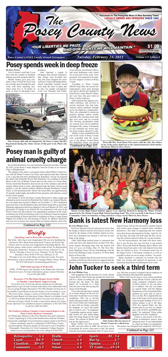 February 24, 2015  The Posey County News By The Posey County News  Issuu