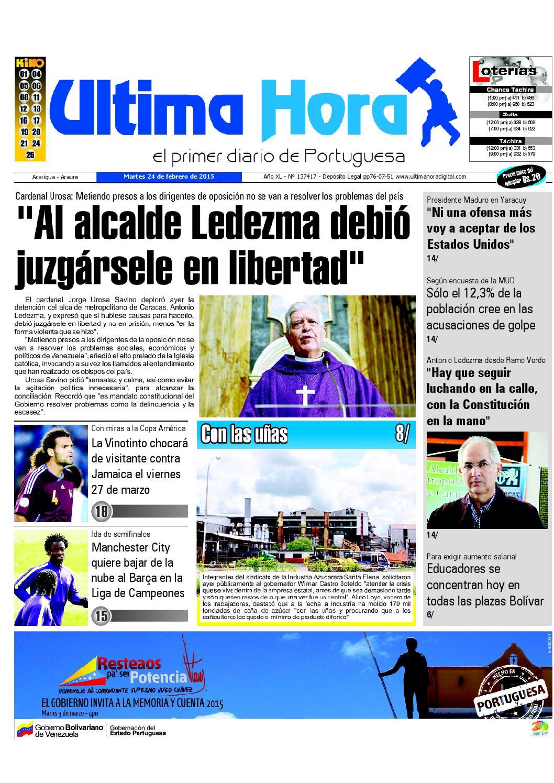 Edicion24 02 2015 by Ultima Hora - El primer diario de Portuguesa ...