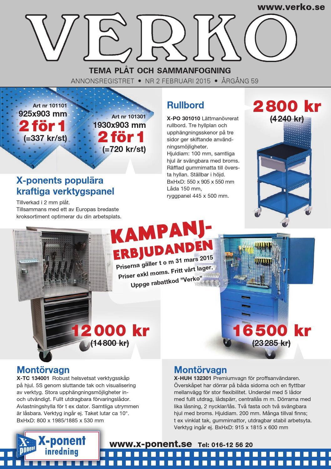 Verko 2 2015 tema plåt by Verko - tidningen för svensk verkstadsindustri -  issuu edd6fcad03d05
