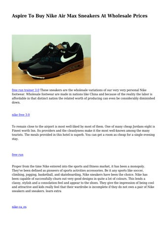 release date: top quality new products Aspire To Buy Nike Air Max Sneakers At Wholesale Prices by ...