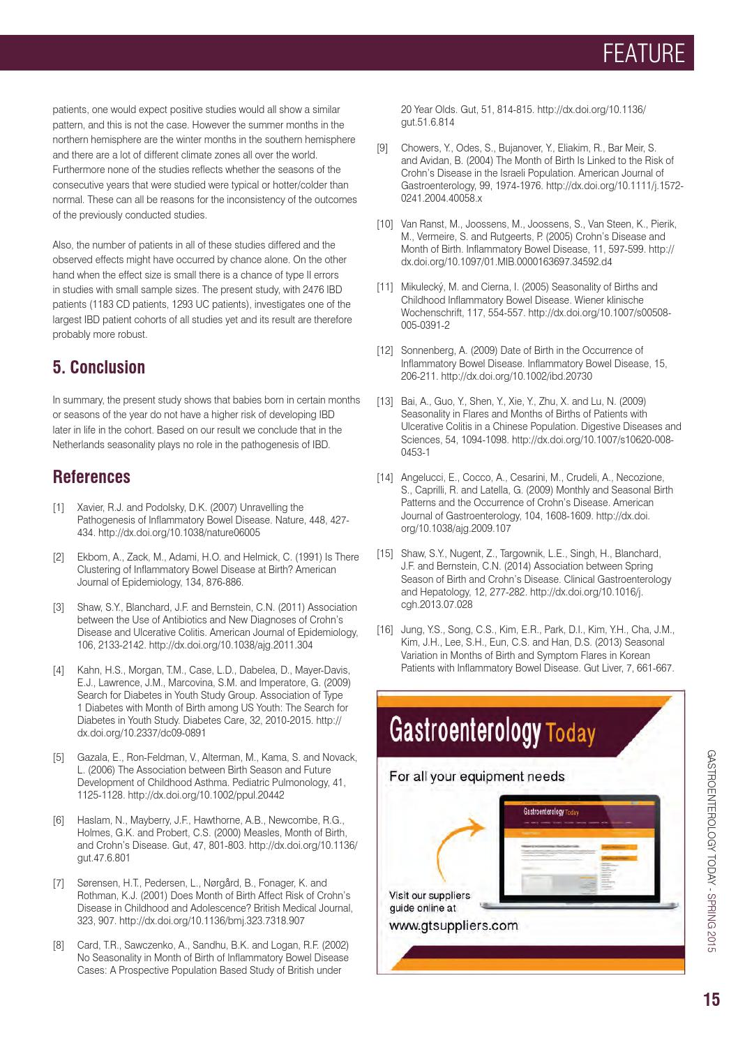 Gastroenterology Today - Spring 2015 by Media Publishing