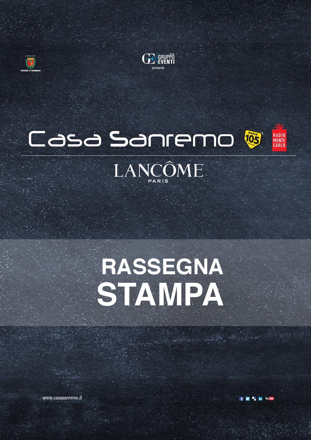 Casa Sanremo Lancôme - Rassegna Stampa 2015 by Consorzio Gruppo Eventi -  issuu 25750a8c70c