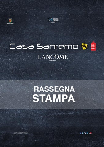 Casa Sanremo Lancôme Rassegna Stampa 2015 By Consorzio Gruppo