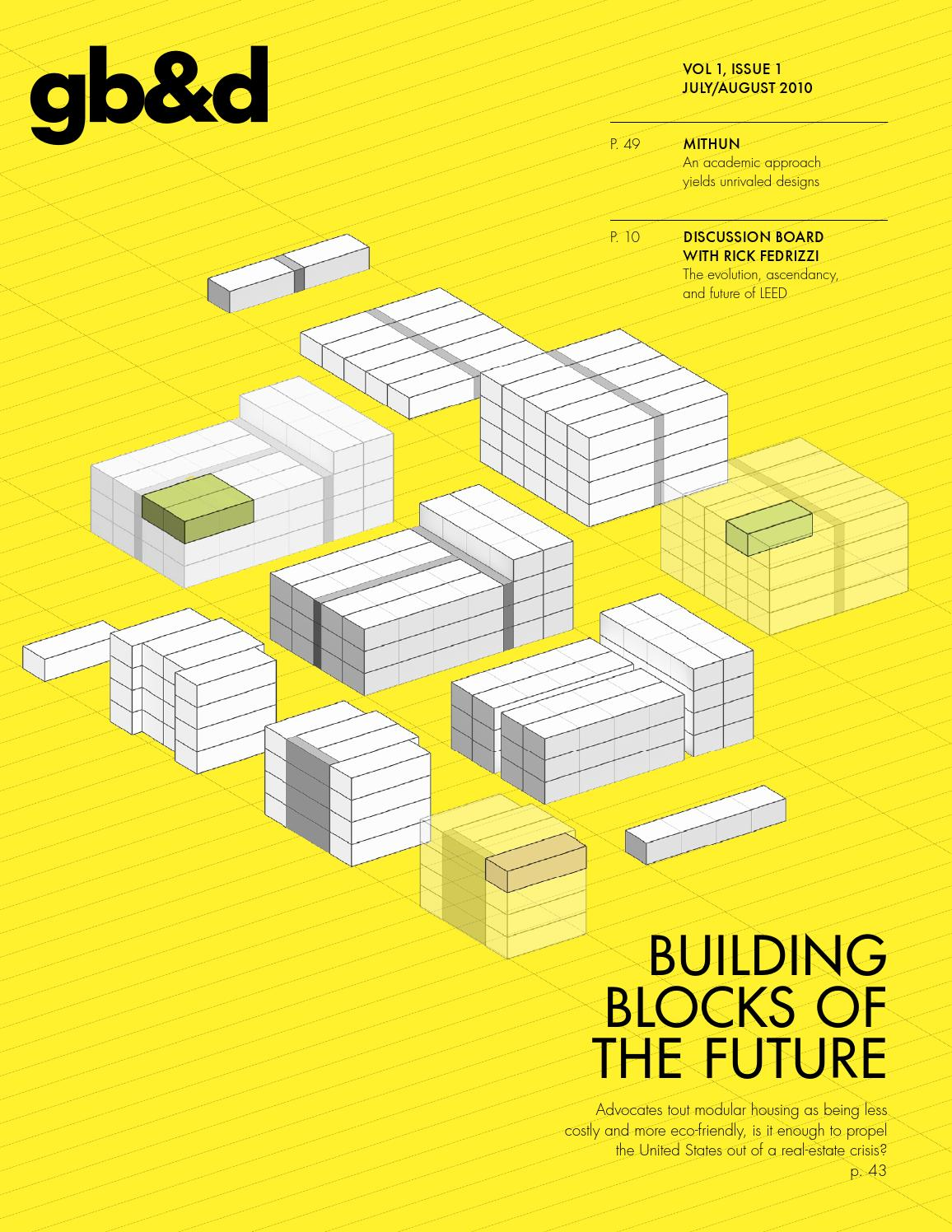 gb&d Issue 1: July/August 2010 by Green Building & Design - issuu