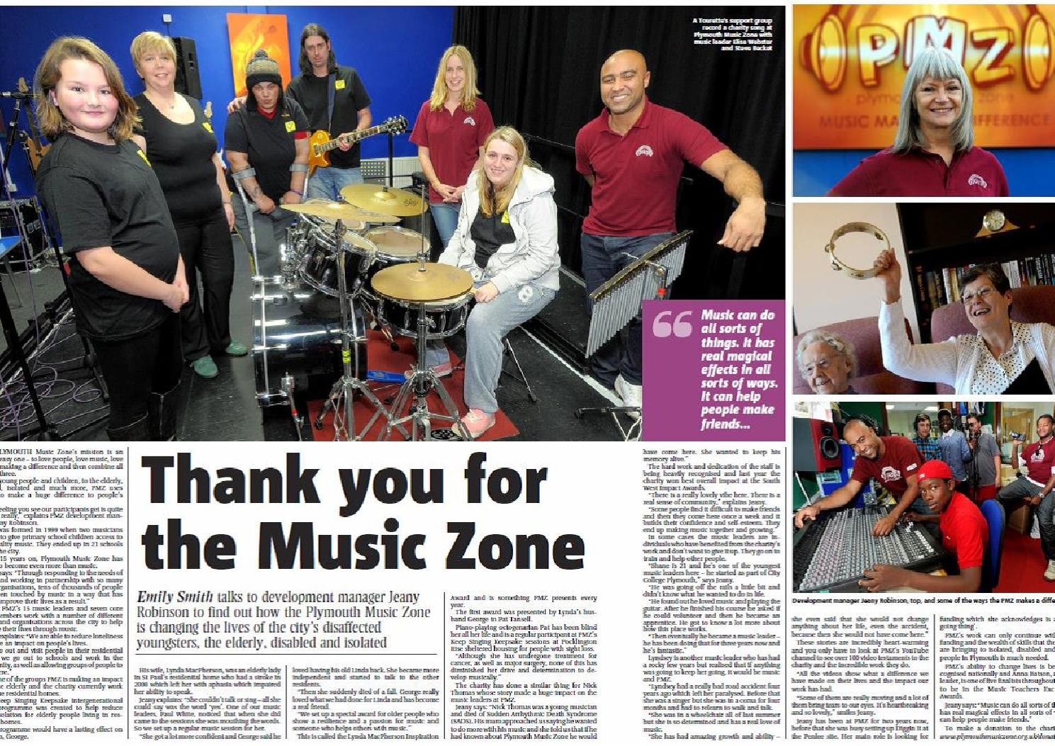 Pmz Feature Plymouth Herald 21215 Thank You For The Music Zone