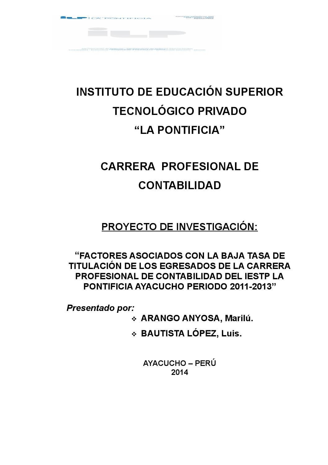 Proyecto de investigacion contabilidad by Josue Medina - issuu