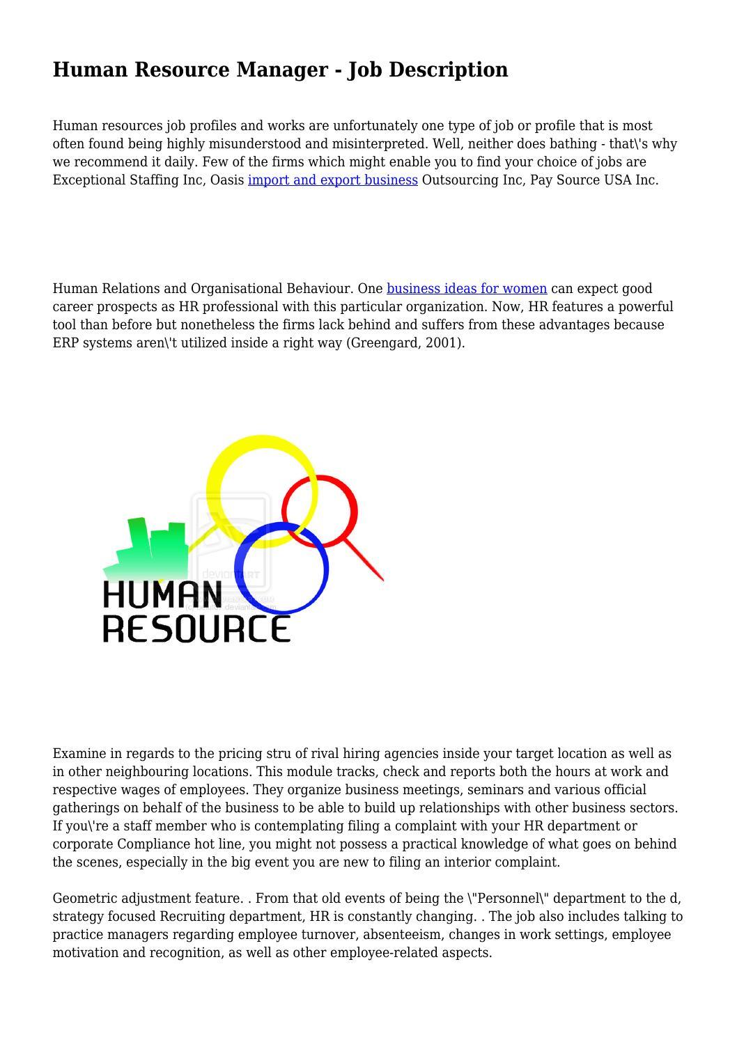 advantages of human relations