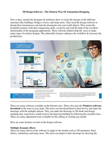 f4b116fedce 3D Design Software - The Modern Way Of Automation Designing Now-a-days