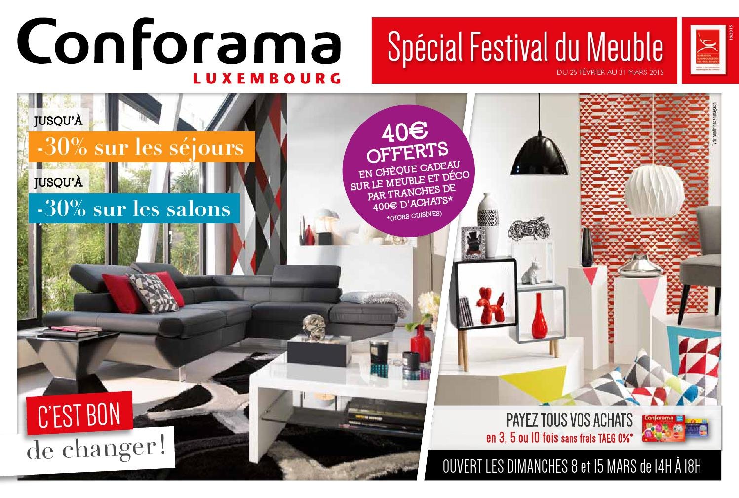 doc 18 sp cial festival du meuble by conforama luxembourg issuu. Black Bedroom Furniture Sets. Home Design Ideas