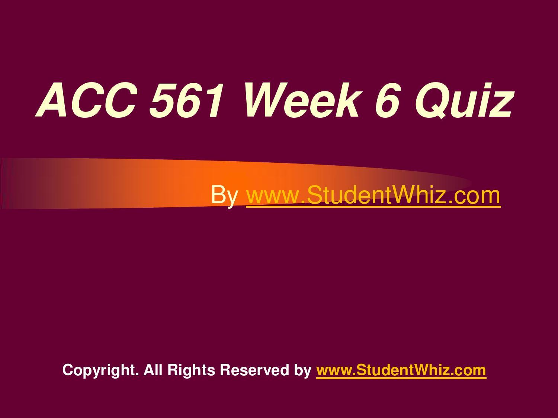ACC 561 Week 5 Quiz