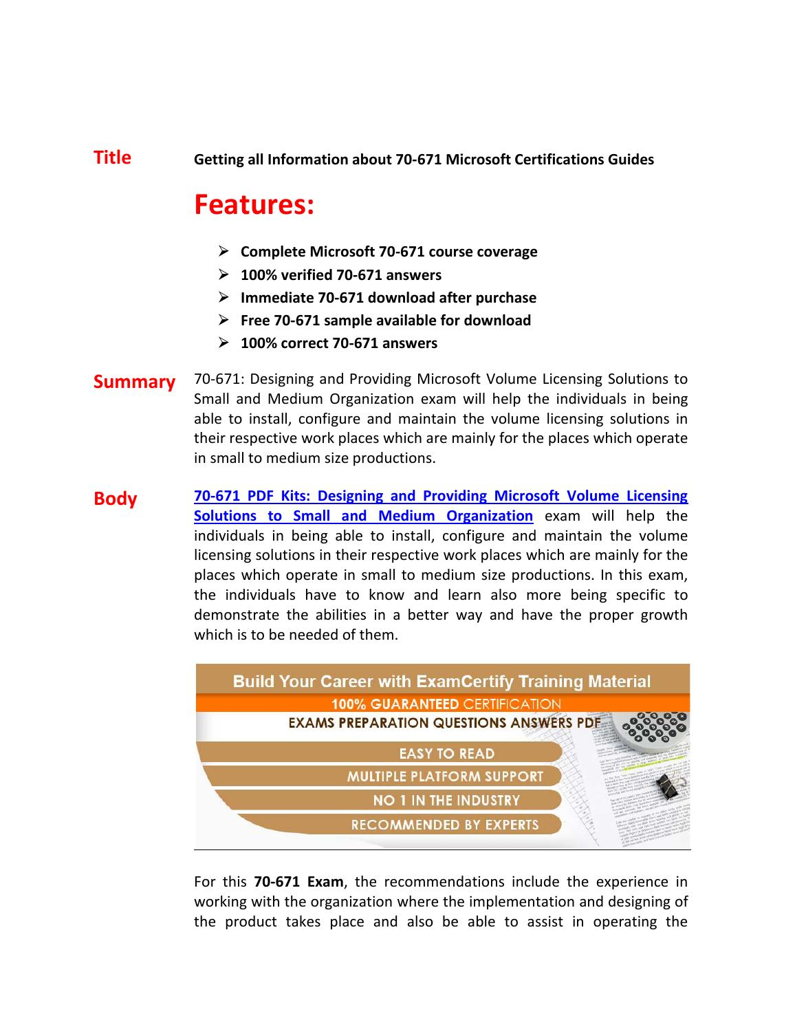 70 671 Exam Questions Answers By Swatson Issuu