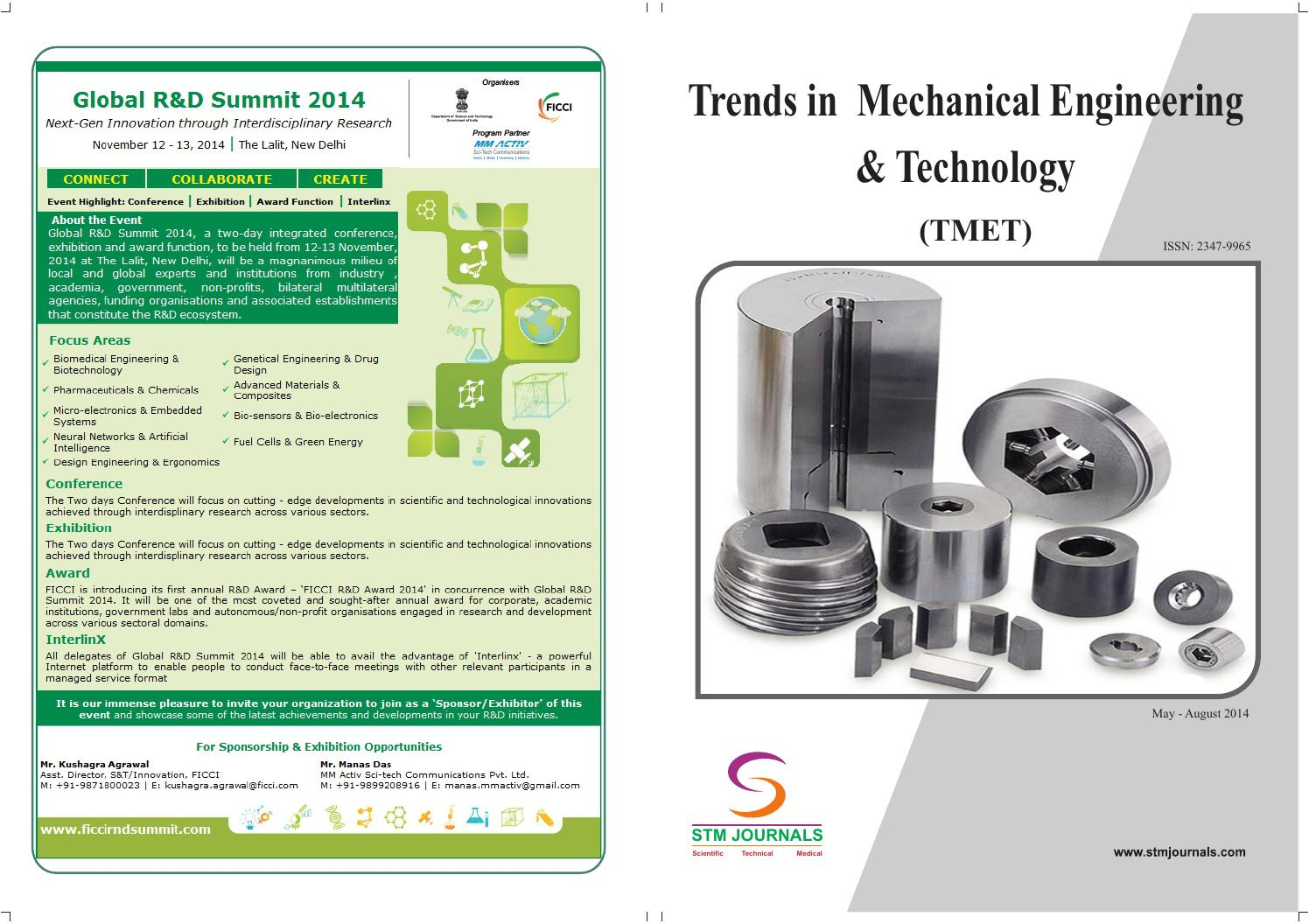 Trends in mechanical engineering & technology (vol4, issue2