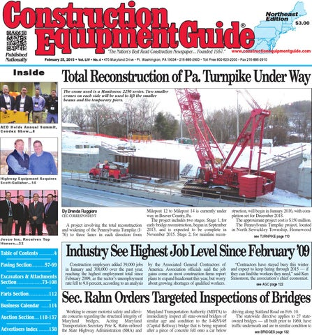 Northeast 04 2015 by Construction Equipment Guide - issuu