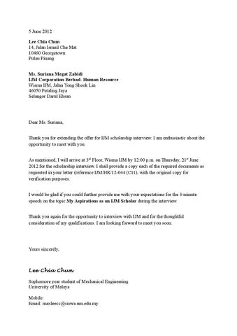 Confirmation letter to attend an interview by max lee issuu page 1 thecheapjerseys Image collections