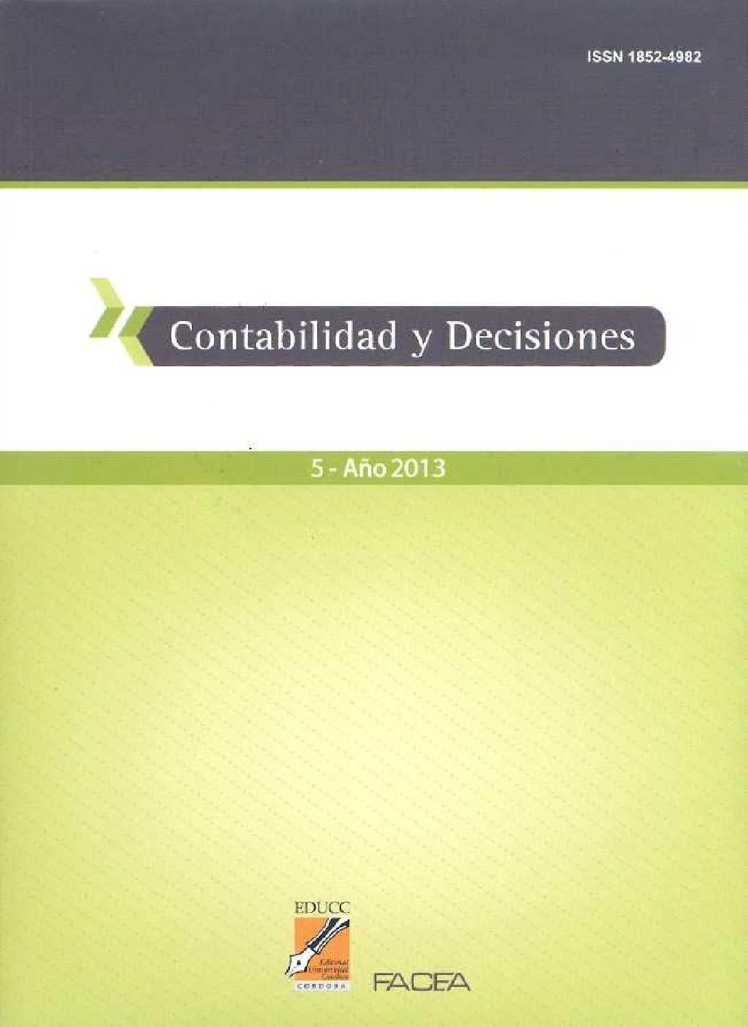 Contabilidad y Decisiones Nro. 5 by contabilidad.decisiones - issuu