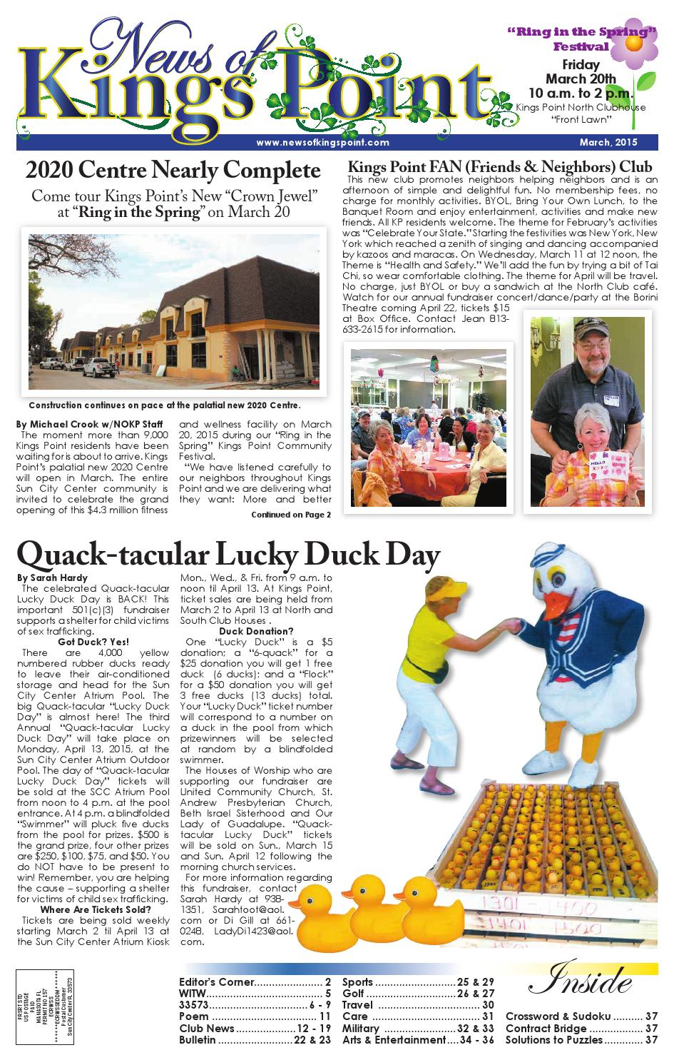 March 2015 News of Kings Point by The News of Sun City Center