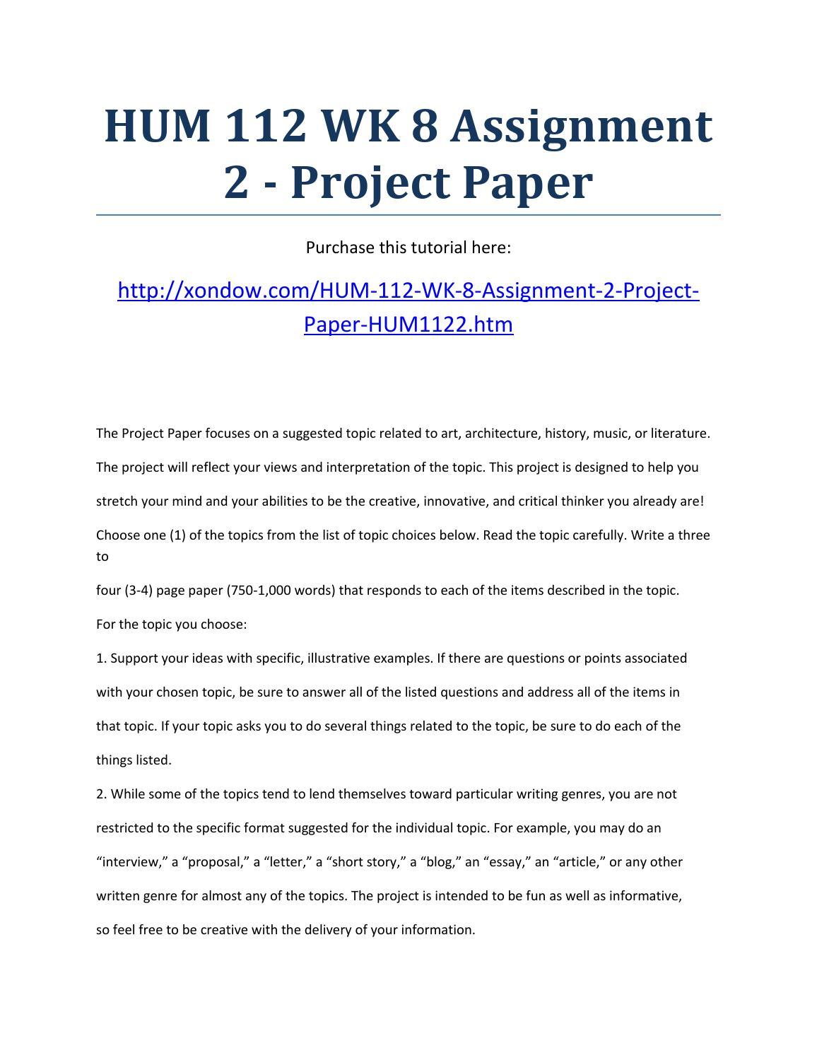 hum112 assignment 1 essay