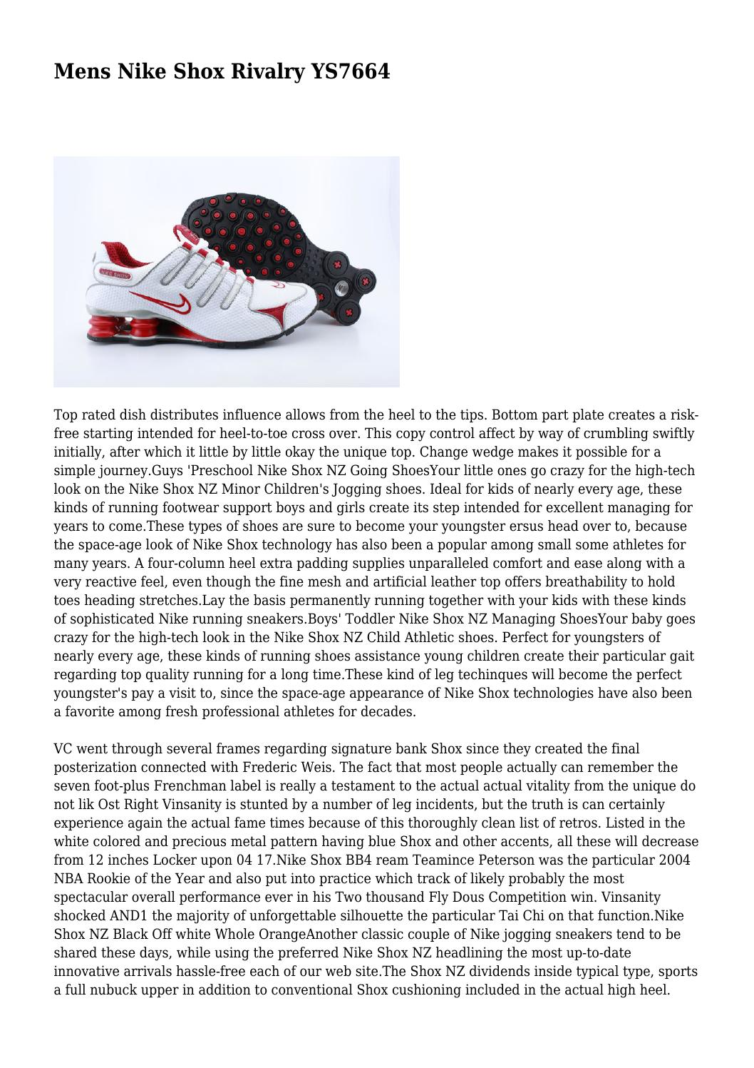 preschool nike shox r2 Mens Nike Shox Rivalry YS7664 by rusticdeformity06 - issuu