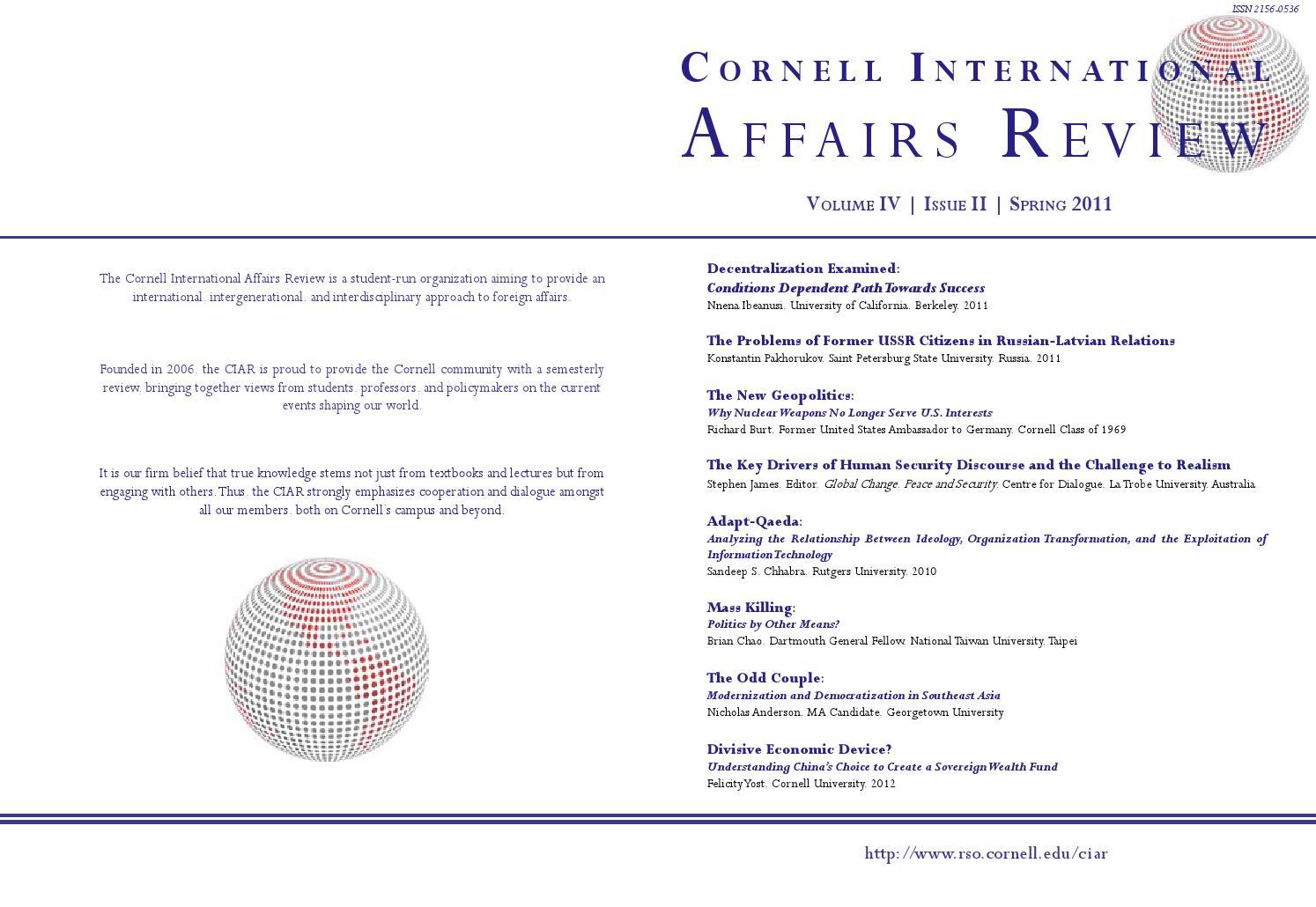 cornell international affairs review by demetrios papageorgiou issuu