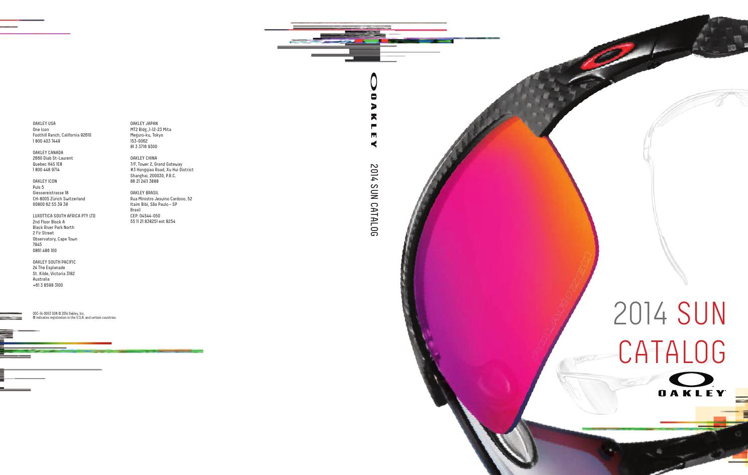 41de5c7345 Oakley 2014 eyewear by Disandina SA - issuu