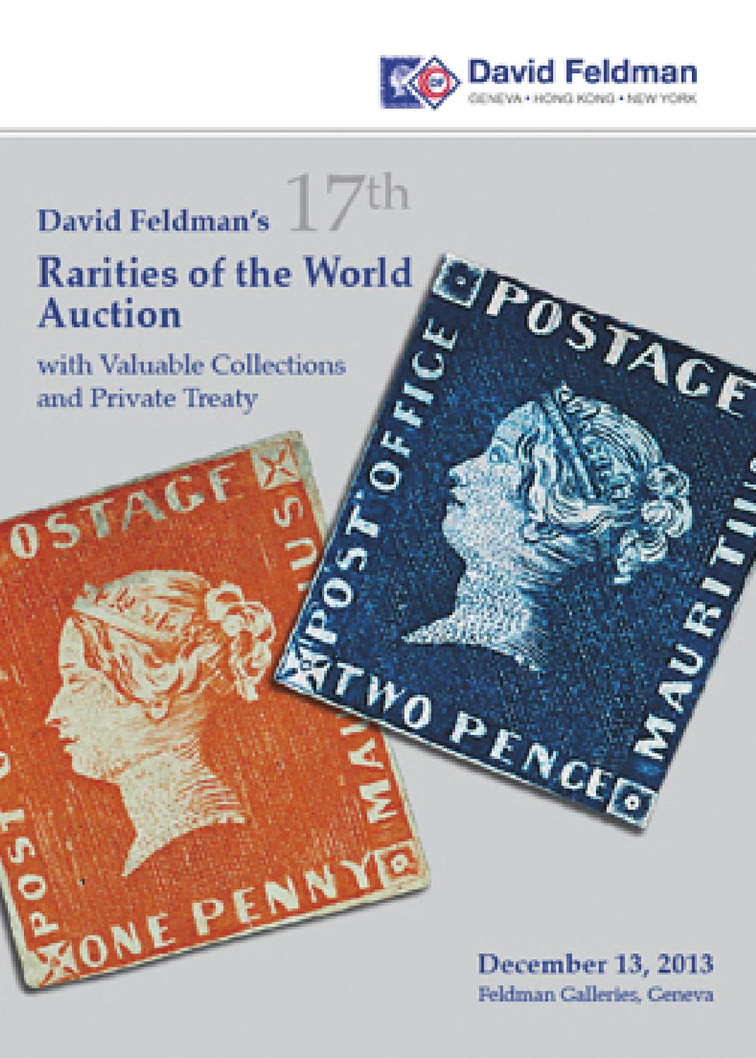 Stamps auction catalogue: rarities of the World 2013 by