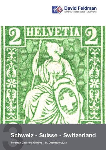 Stamps Auction Catalogue Switzerland 2013 By David Feldman