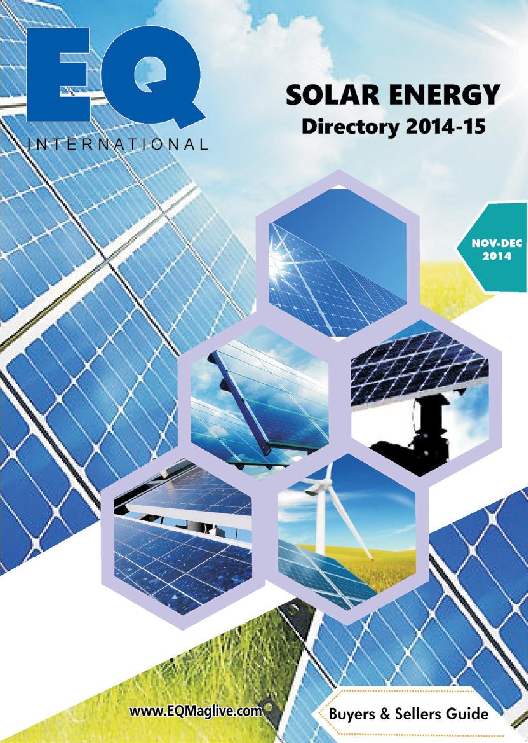 EQ Solar Energy Directory 2014-15 by EQ Int'l Solar Media Group - issuu