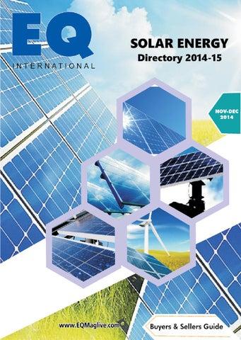 Eq Solar Energy Directory 2014 15 By Eq Int L Solar Media