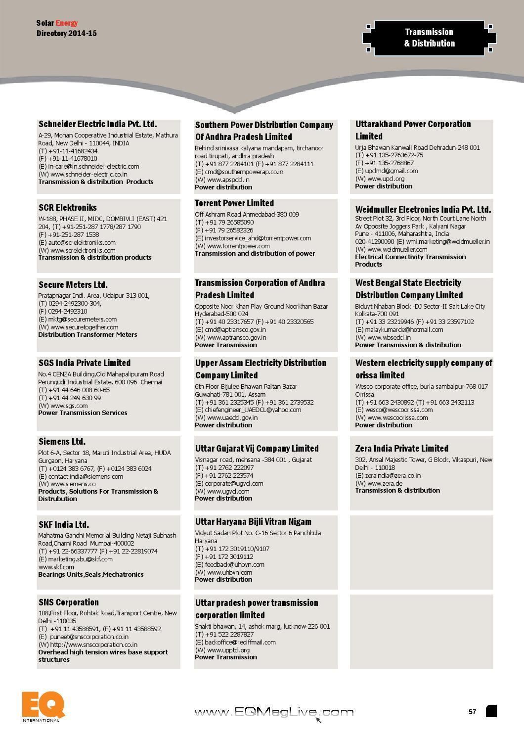 EQ Solar Energy Directory 2014-15 by EQ Int'l Solar Media