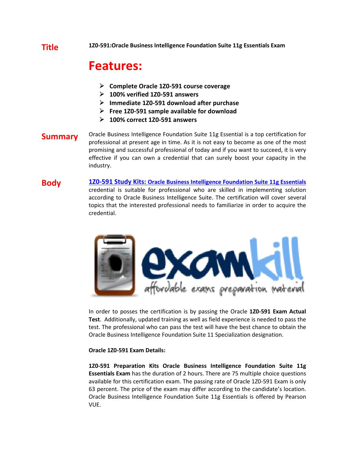 1Z0-591 Exam Questions & Answers by darren - issuu