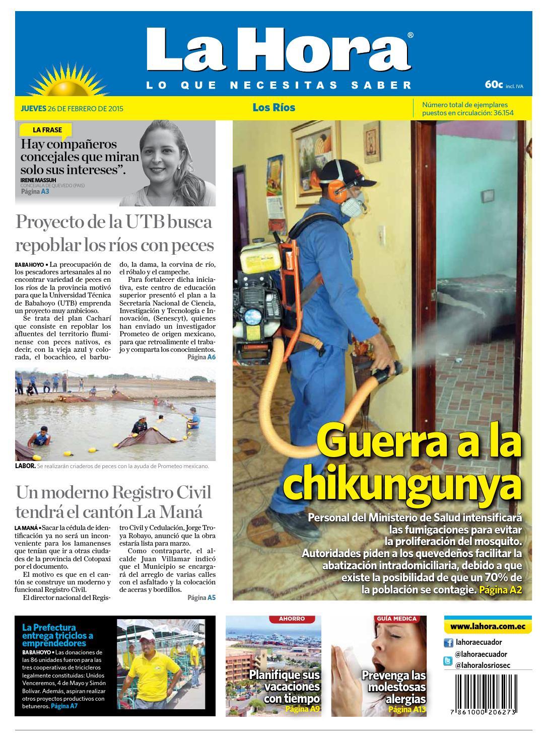 los r237os 26 febrero 2015 by diario la hora ecuador issuu