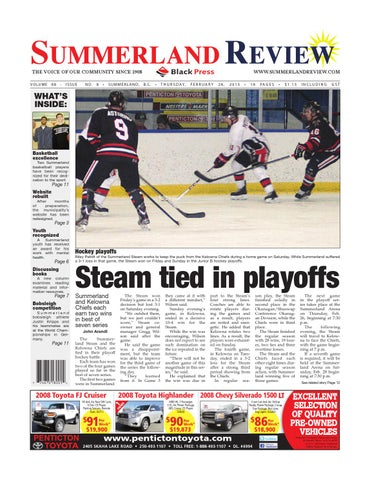Summerland Review, February 26, 2015 by Black Press Media Group - issuu