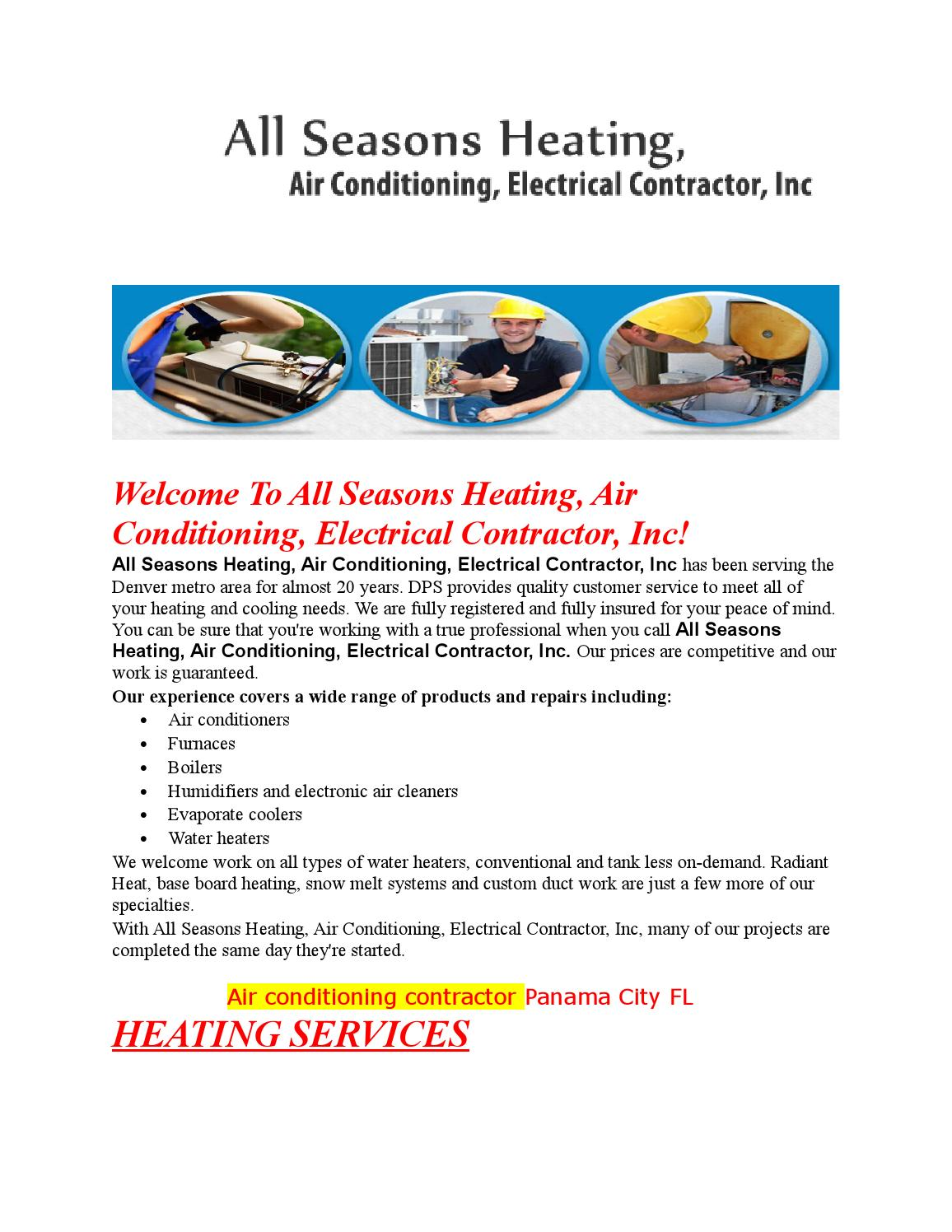Air Conditioning Electrical Hvac And Heating Repair Contractor Denver Services Replacing A Thermostat Meanings Of Panama City Fl By Bettsconcrete Issuu
