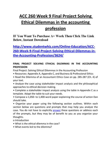 ACC 260 Week 2 Individual Assignment The Enron and Worldcom